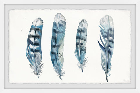 Blue Striped Feathers II