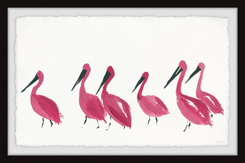 Bright Pink Flamingos