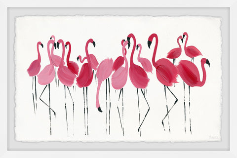 Blushing Flamingos