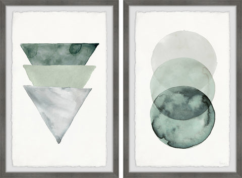 Midnight Forest Shapes Diptych