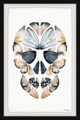 Yellow Kaleidoscope Butterfly Skull