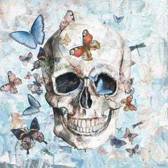 Clouded Happy Butterfly Skull