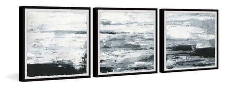 Black and White Smudges Triptych