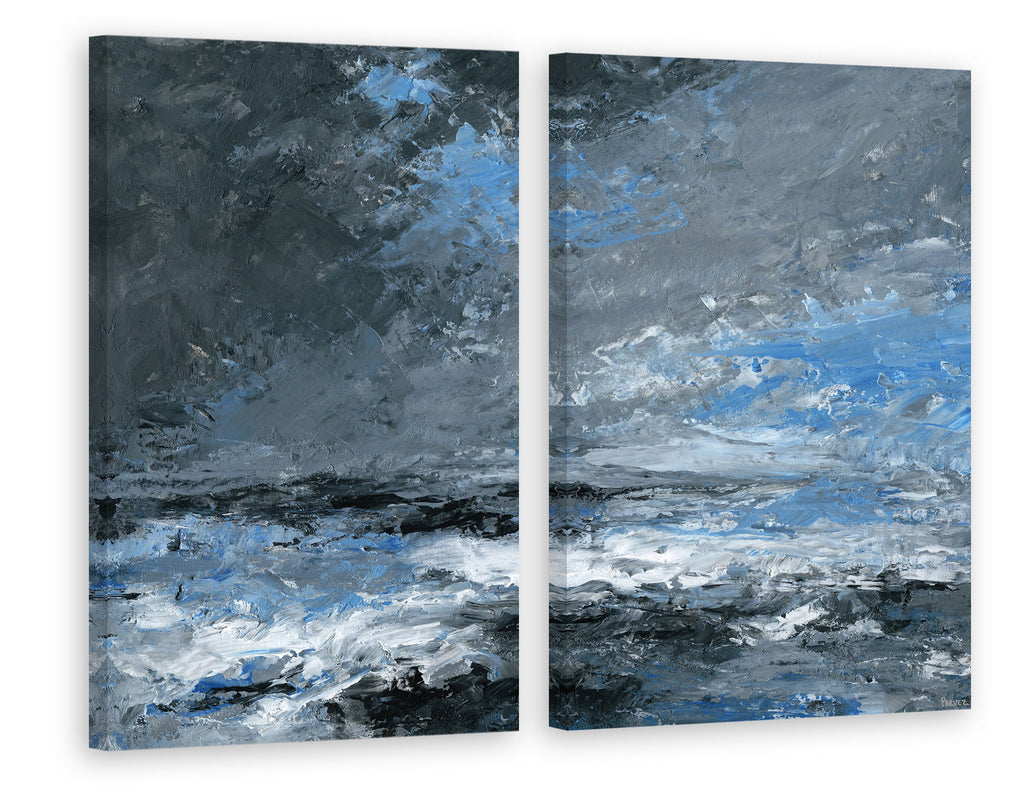 Dark Clouds Diptych