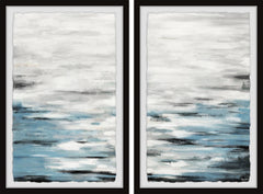 Reflective Sea Diptych