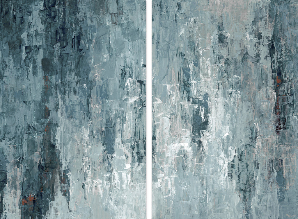 Tainted Dark Blues Diptych