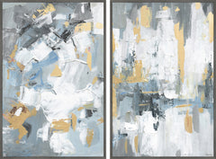 Paint Strokes Diptych