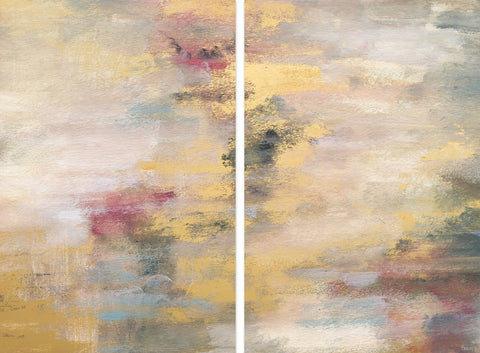 Yellow Streaks Diptych