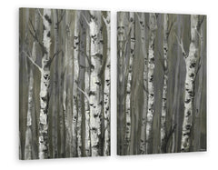 Twigs and Trunks Forest Diptych
