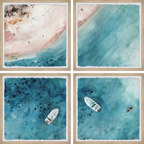 Sailing to the Vast Sea Quadriptych