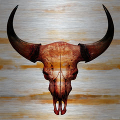 Burnt Orange Skull