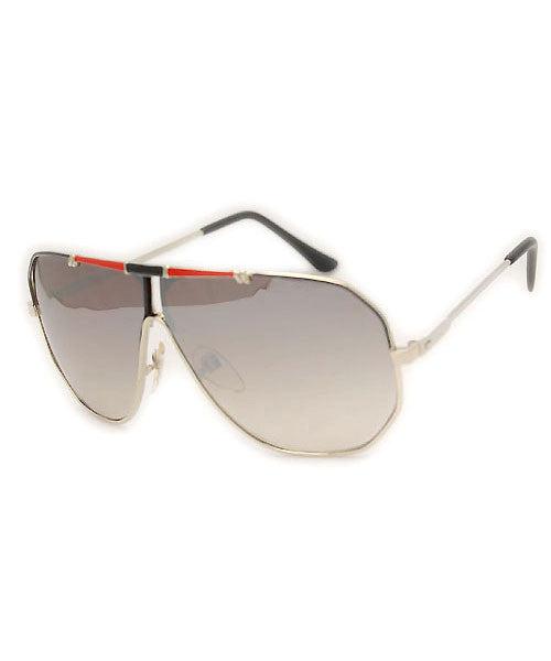 REX Gold/Red Aviator Sunglasses