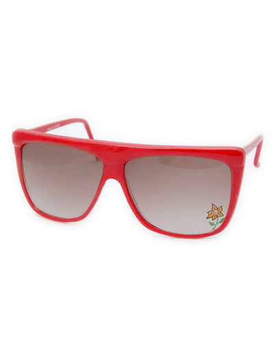 emma red flower sunglasses