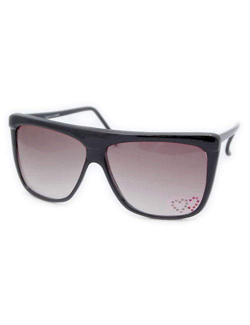 emma black heart sunglasses