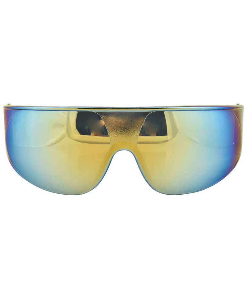 4 A.M. Yellow Shield Sunglasses
