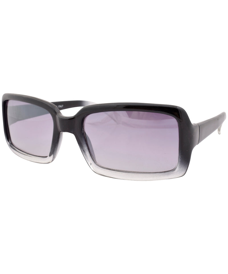 a one crystal black sunglasses