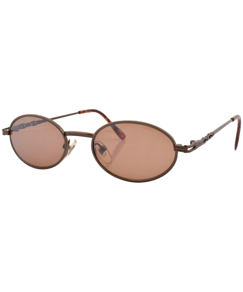 ADELSTEIN Copper Oval Sunglasses