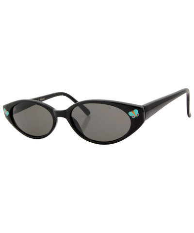 adorbulous black blue sunglasses