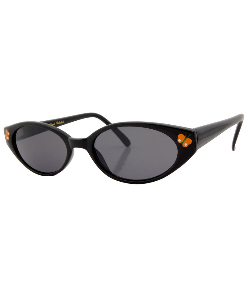 adorbulous black orange sunglasses