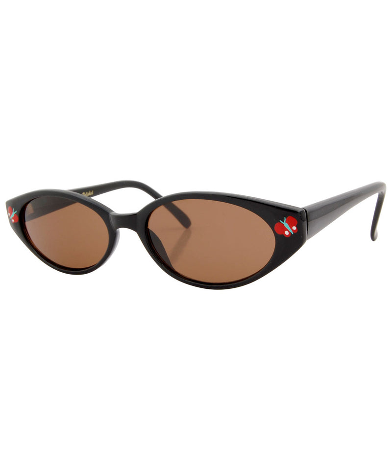 adorbulous black red sunglasses