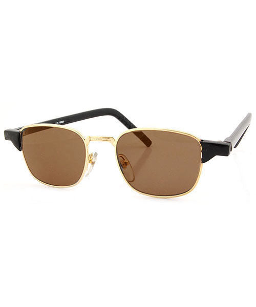 AILERON Black/Brown Square Sunglasses