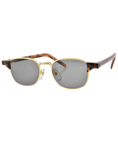 AILERON Tortoise/Gold Square Sunglasses