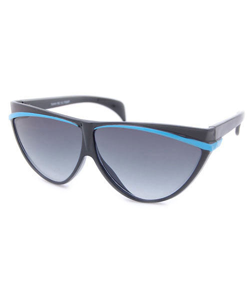 ALLEYCAT Black/Blue 80s Sunglasses