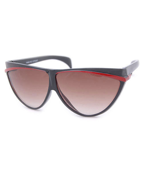 ALLEYCAT Black/Red 80s Sunglasses