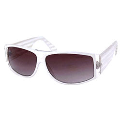 ALL THAT Crystal/White Retro Sunglasses