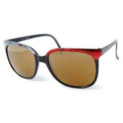 analog black gray red sunglasses