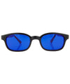 anarchy deep blue sunglasses
