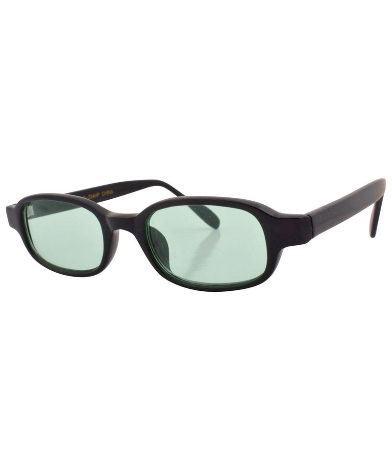 antelope black green sunglasses