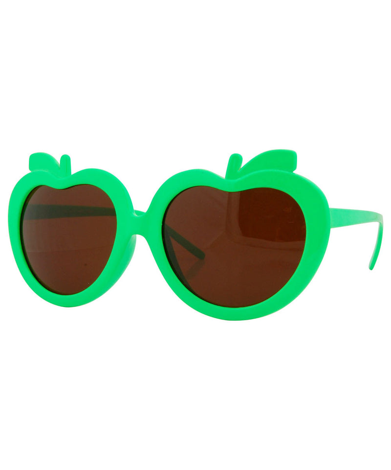 apples green sunglasses