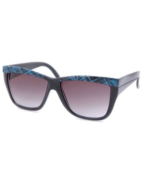 arabella black blue sunglasses
