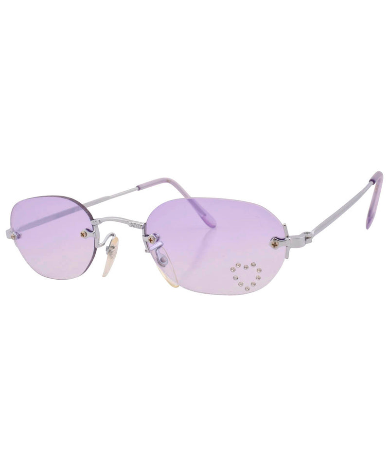 ashley purple heart sunglasses