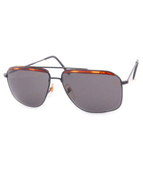 AUTHOR Black Square Aviator Sunglasses