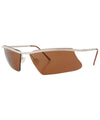 awesome brown silver sunglasses