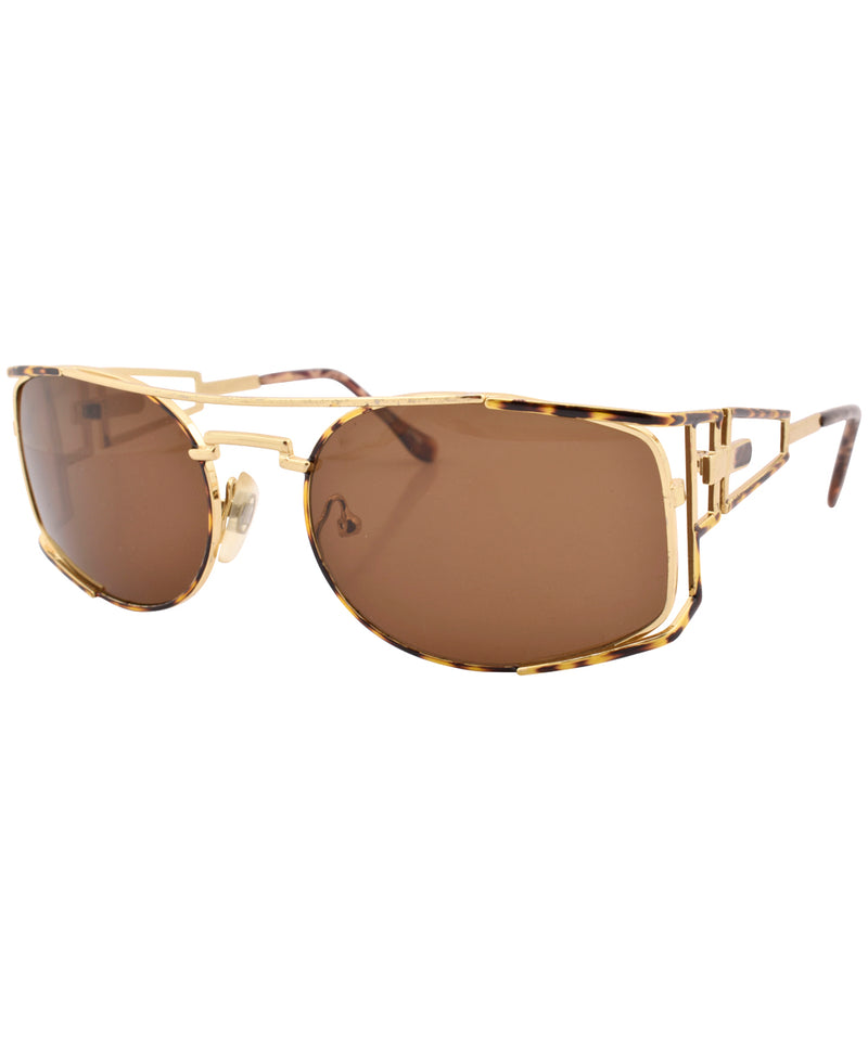 bacon demi gold sunglasses