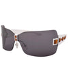 bandolito smoke white sunglasses