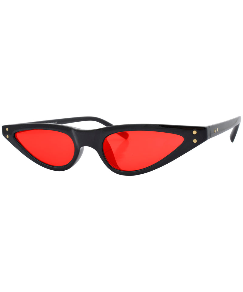 bastards black red sunglasses