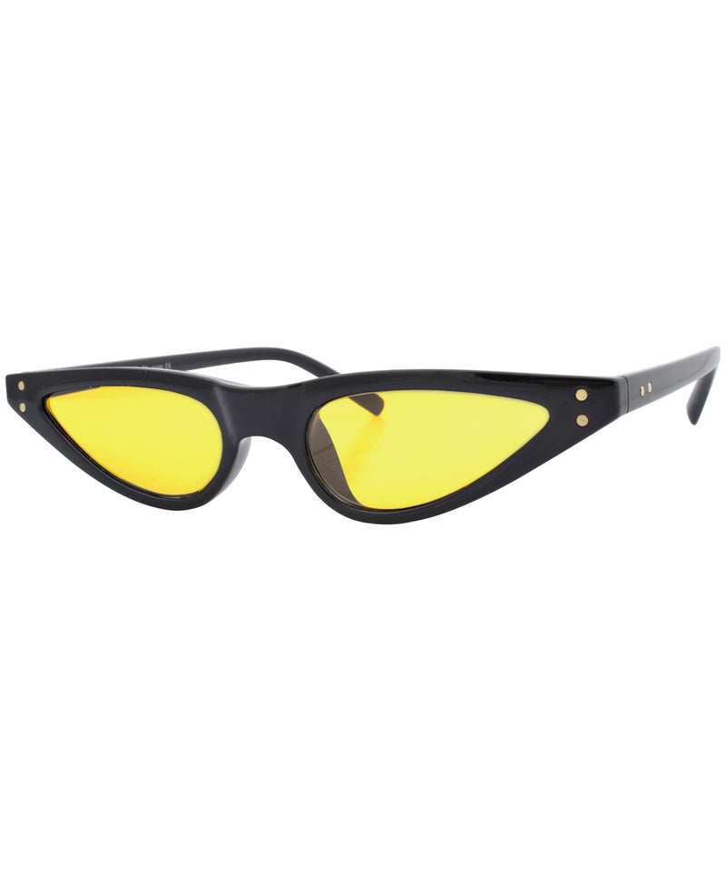 bastards black yellow sunglasses