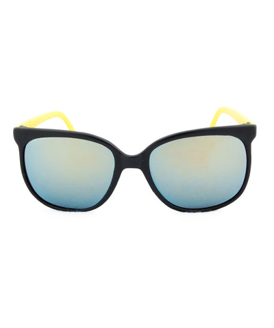 bay black yellow sunglasses