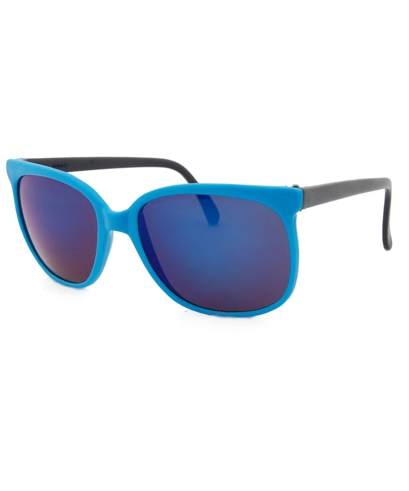 bay blue black sunglasses