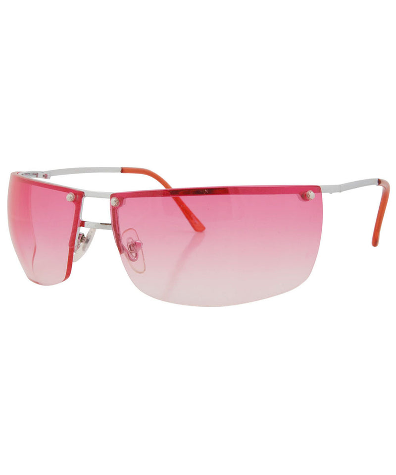 beautifly red silver sunglasses