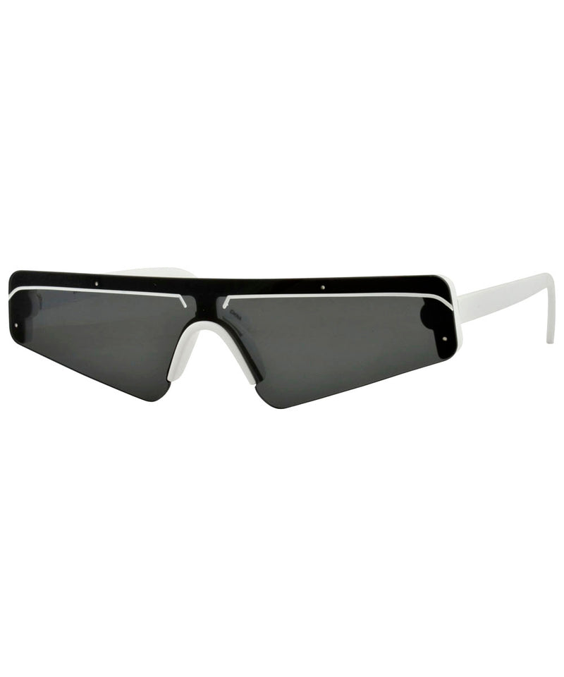 BEBOP White 80s Sunglasses