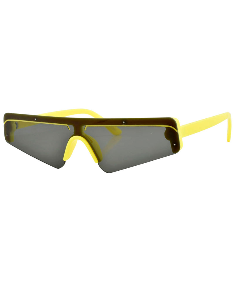 BEBOP Yellow 80s Sunglasses