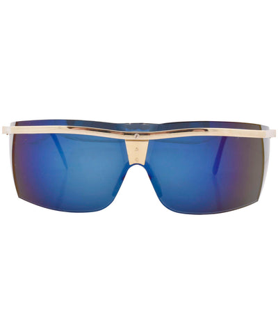 beginning gold blue sunglasses