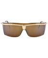 beginning gold brown sunglasses