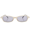 bestie white sunglasses