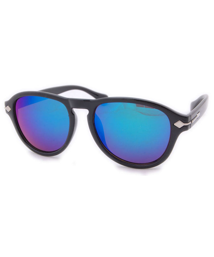 biloxi matte black aqua sunglasses